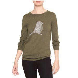 NWT Banana Republic Factory Sweater w/Bird Design